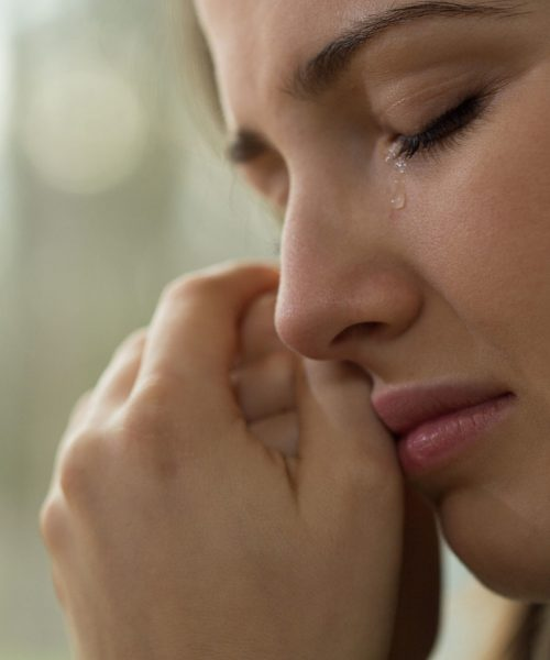 35821717 - close-up of young woman with problems crying